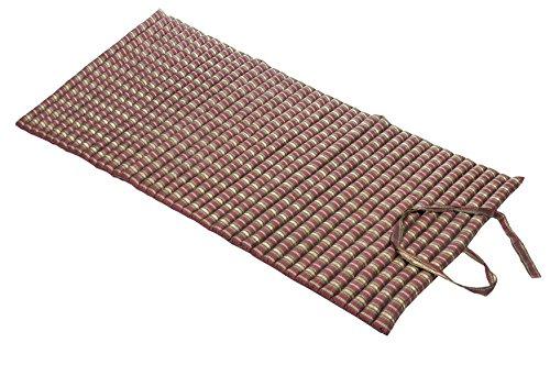 Handelsturm Rollbare Thaimatte Matratze, ca. 200 x 100 cm, Thaikissen Matte in Silky-Red mit Füllung aus Kapok -