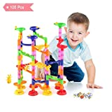 YISSVIC Marble Run 105pcs Marble Track Marble Race Coaster Construction DIY Educational Toys