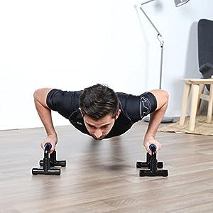 Ultrasport Liegestützgriffe, Push Up Bar, 2er Set Liegestütztgriffe höhenverstellbar, geeignet für Anfänger und Profis, ideal zum Muskelaufbau, weiche Antirutsch-Griffe, multifunktional