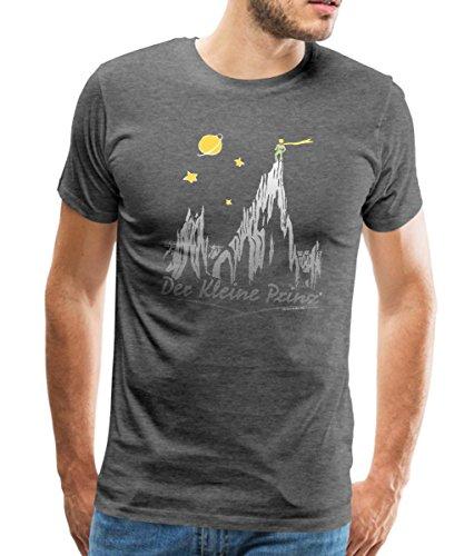Echos In Der (Spreadshirt Kleine Prinz Das Echo In Den Bergen Männer Premium T-Shirt, S, Anthrazit)