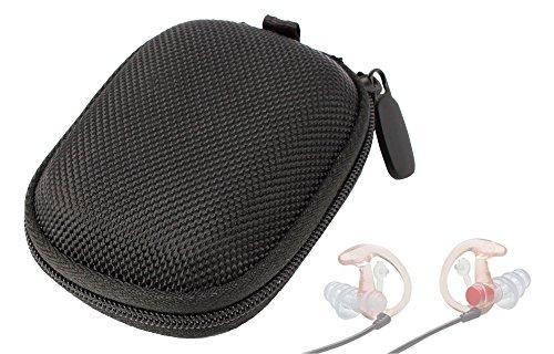 6a8dafbb995a1 DURAGADGET Hard EVA estuche protector bolso negro para Chatón EarPro EP3  Sonic Defenders tapones