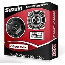 Suzuki Vitara supinador altavoces Pioneer frente 10,16 cm 10 cm altavoz kit Auto 190