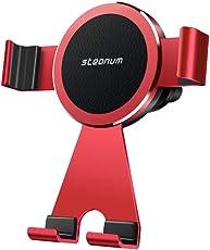 Handyhalterung Auto, steanum Alles Metall Universal Handyhalter 360 Grad Einstellbar Lüftungsschlitz KFZ Halter für iPhone Xs Max/Xs/Xr/X/8/8Plus/7/6,Samsung Galaxy S9/S8/S7,Note 9/8/5,Huawei,LG,Google und Mehr - Rot