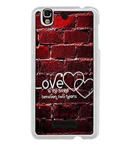 Fuson Designer Back Case Cover for YU Yureka Plus :: Yu Yureka PlusYU5510A (between two hearts couple gyan)