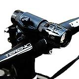 LCLrute Hohe Qualität Fahrrad-Fahrrad-Kopf-Fahrrad-Scheinwerfer-Taschenlampe +360 Freie drehende Rahmen-Taschenlampe Klammer / Schlauch-Taschenlampe 360 Klammer