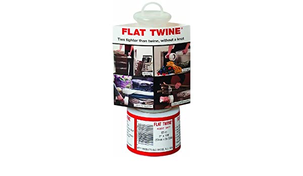 Nifty Products FST11 Heavy Duty Flat Twine Roll with Unique Handle Case of 12 Rolls 2 Width 178 Length Clear 178/' Length 2 Width 120 Gauge Thick