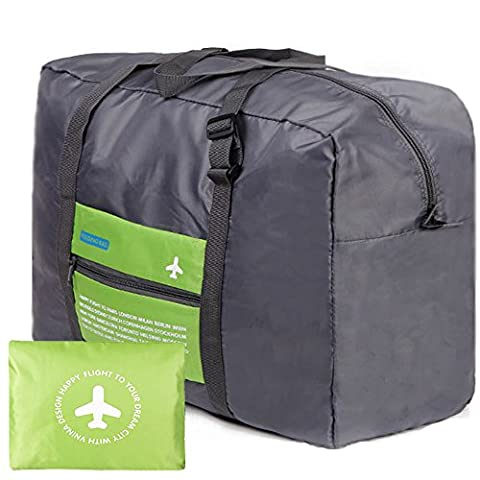 Foldable Travel Luggage Duffle Bag 32L Portable Shoulder Hand BagCan Attach the Handle of Suitcase Luggage Approx