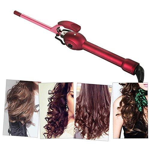 Bigoudi, barre de roulement électrique ultra-fine de 9mm, petits cheveux courts moelleux professionnels de petit volume
