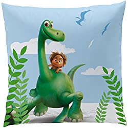 Disney The Good dinosaurio 042978 cojín Arlo y foco, poliéster, 40 x 40 cm