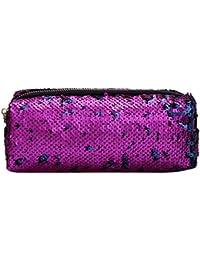 5b4a30ce1257 Childplaymate Glitter Sequins Women Men Cosmetics Clutch Pencil Case Bags  Makeup Pouch