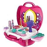 Kinder-Rollenspiele, Teckpeak Frisierkoffer Spielzeug Kinder Schminkset Schminksachen Rollenspiel Spielzeug Kinder Mädchen Beauty Set