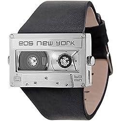 EOS New York - Mixtape Silver- Stahl IP Silber Leder Unisex Uhren