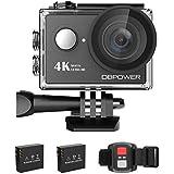 DBPower caméra d'action étanche 4K–2.0pouces FHD LCD