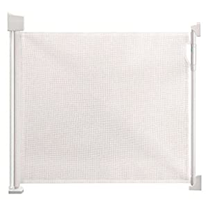 Safetots Advanced Retractable Safety Gate White 0cm - 120cm  [Protect children's safety]: Many children fall from the building, let us understand that the safety of children can not be ignored. [Polyester knotless woven mesh]: The mesh surface has large pulling force, and the double needle has no knot woven mesh hole, so that the mesh has stronger impact resistance. [wire diameter 6MM, mesh spacing 5CM]: Escort for baby safety.(Others available in our shop) 9