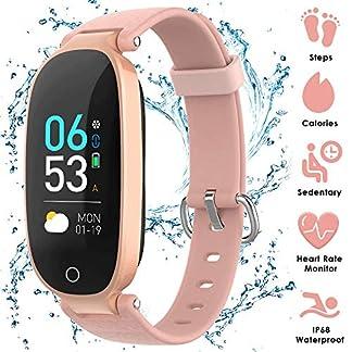 AGPTEK Pulsera Actividad Inteligente para Mujer, Reloj Inteligente con Pantalla a Color, GPS, Pulsómetro, 16 Modos de Deporte, Monitor de Sueño