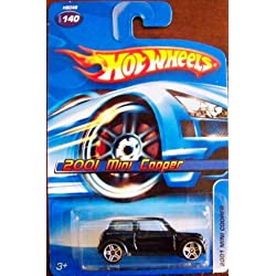 Black 2001 MINI COOPER Hot Wheels 1:64 Scale Collectible Die Cast Car #140 by Hot Wheels