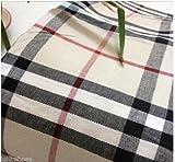 Tissu Carreaux Tartan Plaid pour homme Matière Coton/145cm de largeur/marron clair–Rouge–Noir (vendu au mètre)