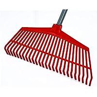Keptfeet Stainless Steel Rake Adjustable Folding Leaves Rake for Clean Up of Lawn and Yard