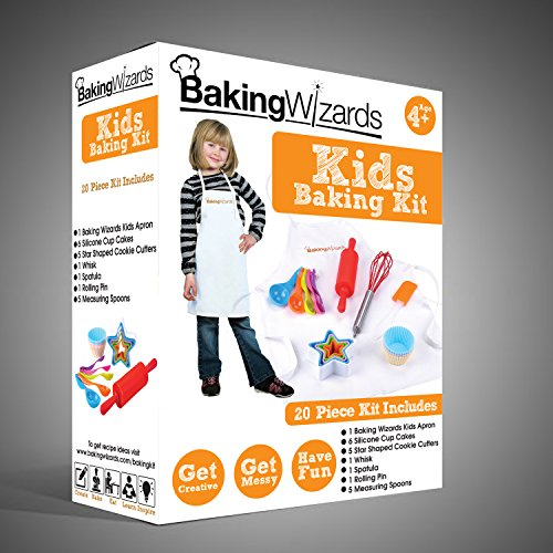 Deluxe 20 Piece Kids Cooking and Baking Set With Real Kitchen Utensils To Teach Children To Cook & Bake Cakes - Best Suited Gift For Boys and Girls