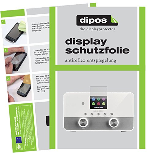 dipos I 6X Schutzfolie matt passend für Silvercrest 4 in 1 Stereo Internet Radio Folie Displayschutzfolie