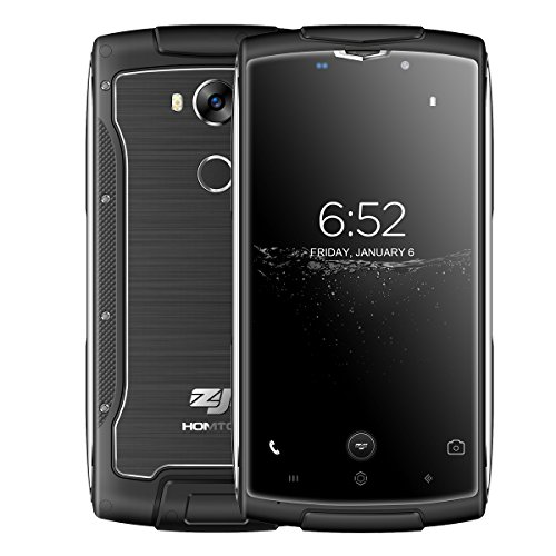 ZOJI Z7 - IP68 Wasserdichtes Metallic Rugged 4G Android 6.0 Smartphone Ultra dünn, 5.0 Zoll Corning Gorilla Glas Bildschirm, MTK6737 Quad Core 1.3GHz 2GB RAM 16GB ROM, 5MP + 13MP GPS Dual SIM Schwarz (Corning Gorilla Glas Iphone 4)
