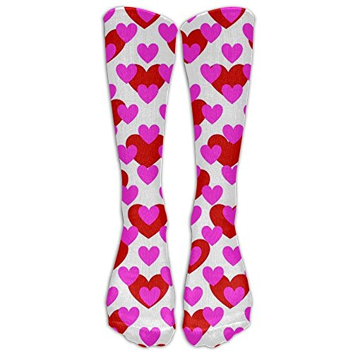Heart Love Valentine Day Swirl Printed Men's/Women's Comfortable Casual Funny Long Knee High Socks Compression Socks Winter Warm Soccer Socks