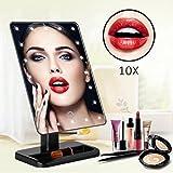 Private Twinkle, Touch-Bildschirm, LED, Make-up-Spiegel mit 10x Vergrößerung