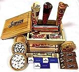 MontCherry Trendz Sifter Box Compact Mix Deal mit Exklusiven Tipps, Raw Deluxe Holzkiste, Verschiedene Marken Zigarettenpapier und Verschiedene andere Produkte für Sie und Ihre Lieben