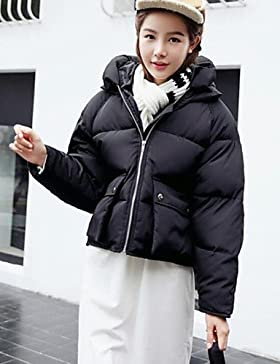 TT & ShangYi edredón de mujer, Abrigo moda ciudad para USCIRE tinta unita otro polipropileno manga larga, White, L