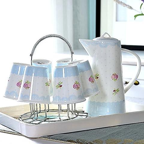 Stownn domestique de tasse Tasse en céramique Tasse à thé d'eau froide Pot de Cold Water Kettle Tasse européenne Living Porcelaine anglaise