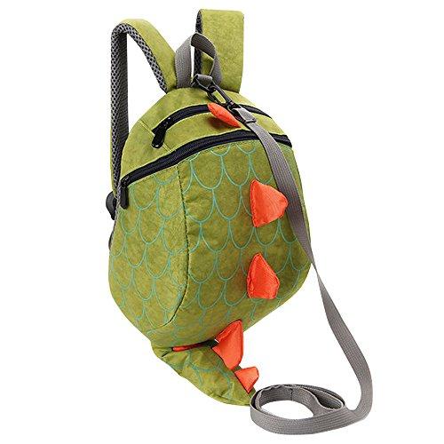 Imagen de fristone  para niños / dinosaurio pequeña bebes guarderia bolsa con arneses de seguridad,verde