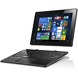 Lenovo Miix 310 25,4 cm (10,1 Zoll HD IPS Touch) Convertible Tablet-PC (Intel Atom Z8350, 2GB RAM, 64GB eMMC, Windows 10 Home) silber