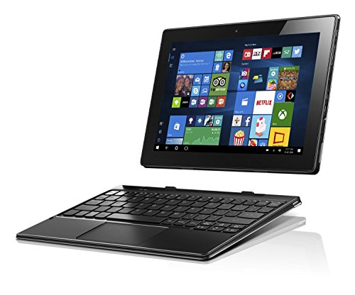Lenovo Miix 310 25,65 cm (10,1 Zoll HD) Tablet PC (Intel Atom x5-Z8350 Quad-Core Prozessor, 4GB RAM, 64GB EMMC, Intel HD Grafik, Touchscreen, LTE, Windows 10) silber inkl. AccuType Tastatur