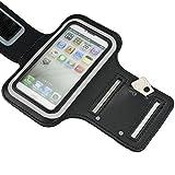 Sport Armband für Huawei P10 Lite | P9 Lite | P8 Lite Smart | P8 Lite (2017) Tasche schwarz Armtasche Schutzhülle Etui Case Hülle Handytasche für Sport Jogging und Fitness studio