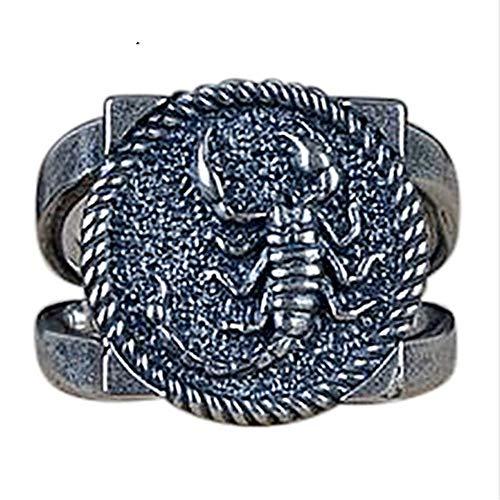 ZHOUYF Ring Verlobungsringe Cool Animal Scorpion Ringe Für Männer 925 Sterling Silber Einstellbare Größe Thai Silberschmuck