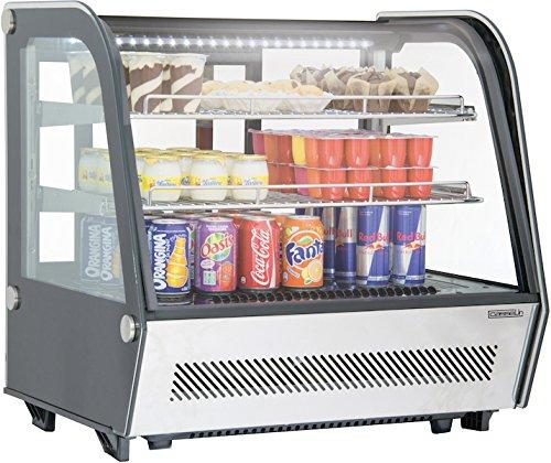 Casselin Kühlvitrine 120l mit Doppelverglasung und LED-Beleuchtung - zwei Lüfter