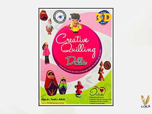 Creative Quilling Dolls Making by Cora,Art and Craft Quilling kit inhances Your Kids Creativity ,for Kids as Well as Adults.Make 3D Dolls