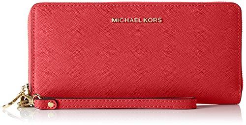 Michael Kors Damen Money Pieces Geldbörse, Rot (Bright Red), 1.9x10.2x21 centimeters