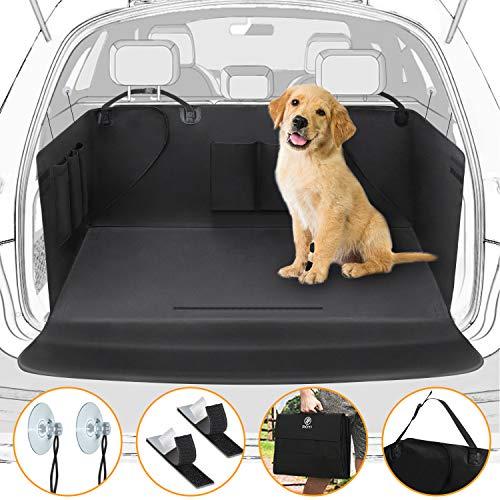 Winipet Universeller Kofferraumschutz, Kofferraumdecke für Hunde Wasserdichter Kofferraum Hundedecke Auto Schutzdecke 2 in 1 mit Seitenschutz, für PKW-LKW Van und SUV (171x101cm)