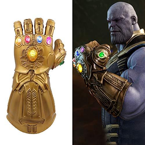 Womdee Thanos Guantelete, Avengers Infinity Guantelete con Luz electrica Avengers Conmemoración - Adecuado para Marvel fanáticos, Apto para niños 30 * 12cm