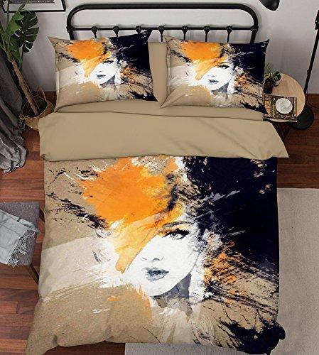 3D Graffiti Junges Mädchen 675 Bettzeug Kissenbezüge steppen Bettdecke Decken Set Single Königin König |3D Foto Bettzeug, AJ WALLPAPER Kyra (Zwilling) (Bettdecken Zwilling-jungen)