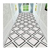 GHHZZQ 3D Läufer Teppich Flur Schneidbar Superfeine Faser Treppe Foyer Teppichläufer, 2 Farben, 0,7 cm Dick, 34 Größen, Anpassbar (Color : A, Size : 1.4x6m)