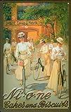 Blechschild Nostalgieschild Nione Leibniz Cakes and Biscuits Damen Fahrrad Schild Kekse Werbeschild