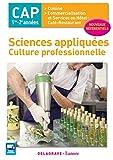 Sciences appliquées CAP 1re-2e années