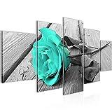 Bild 200 x 100 cm - Rose Bilder- Vlies Leinwand - Deko für Wohnzimmer -Wandbild - XXL 5 Teilig Teile - leichtes Aufhängen- 800651c