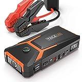 TACKLIFE T8 Booster Batterie - 800A 18000mAh Portable Jump Starter, Démarrage de Voiture ( Jusqu'à 6.5L Essence 5.5L Gazole ), Alimentation Eléctrique d'Urgence pour Voiture avec Lamp LED
