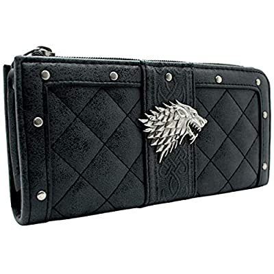 House Stark Game of Thrones Clutch Dire Wolf Coin and Card Purse Grey