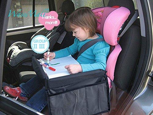 WASE Kid giochi da viaggio Vassoio seggiolino auto seggiolino auto per vassoio organizzatore per bambini con fessura per Bus auto treno aereo indoor outdoor viaggi
