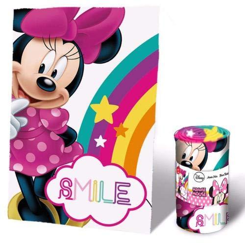 Disney minnie coperta in pile, 150 x 100 cm, rosa, 150100