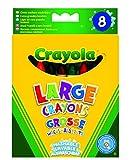 Crayola - Loisir Créatif - 8 Gros Crayons À La Cire Lavables Boîte
